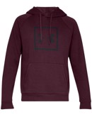 Under Armour Sweatshirt Rival Fleece Hoodie Rød Herre