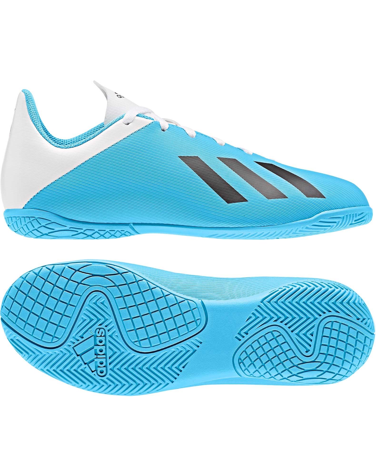 Adidas X 19.4 IN J Indendørssko Lyseblå Hvid Børn