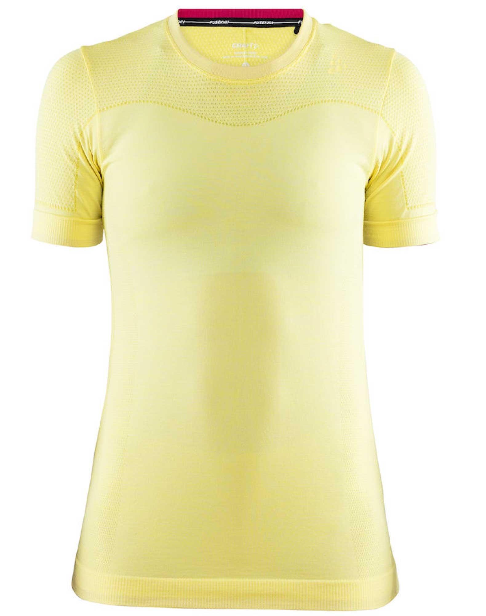 Craft T shirt Fuseknit Comfort RN SS W Gul Dame
