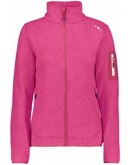 CMP Knit Fleece Jacket Fritid Pink Dame
