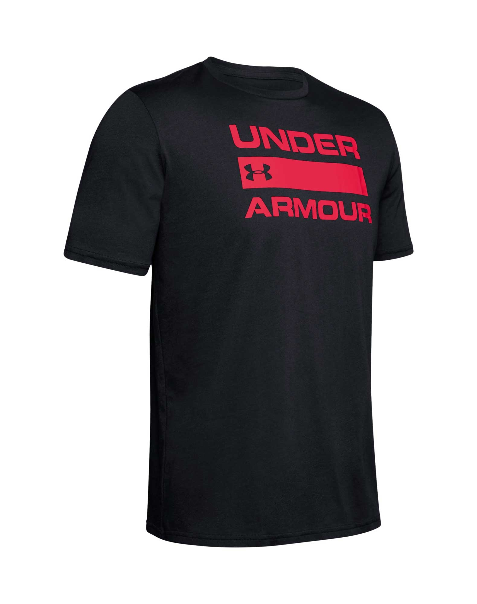 Under Armour UA TEAM ISS T shirt Sort Herre