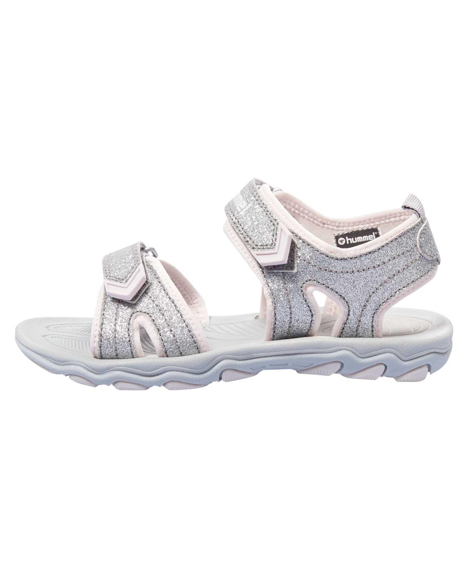 ca1509281dea Køb Hummel Sandal Sandal Glitter Jr Sølv Børn online