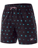Speedo Badeshorts Printed Leisure 16 Sort-lyseblå Herre