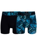 CR7 Boxershorts 2-pack Trunk Turkis-Sort Dreng